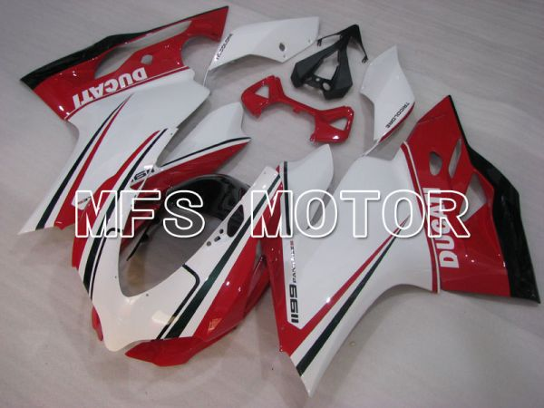 Ducati 1199 2011-2014 Injection ABS Fairing - Factory Style - Red White - MFS4094