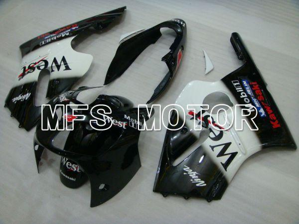 Kawasaki NINJA ZX12R 2000-2001 Injection ABS Fairing - West - Black White - MFS4097