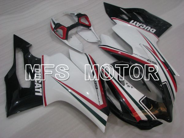 Ducati 1199 2011-2014 Injection ABS Fairing - Factory Style - Black White - MFS4105