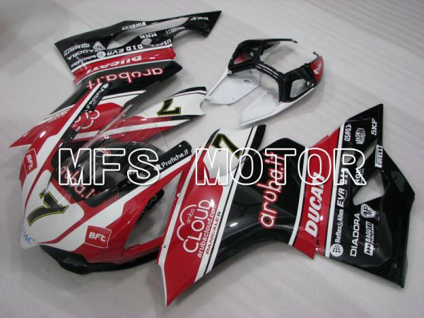 Ducati 1199 2011-2014 Injection ABS Fairing - aruba.it - Black White Red - MFS4108