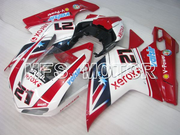 Ducati 848 / 1098 / 1198 2007-2011 Injection ABS Fairing - Xerox - Red White - MFS4109