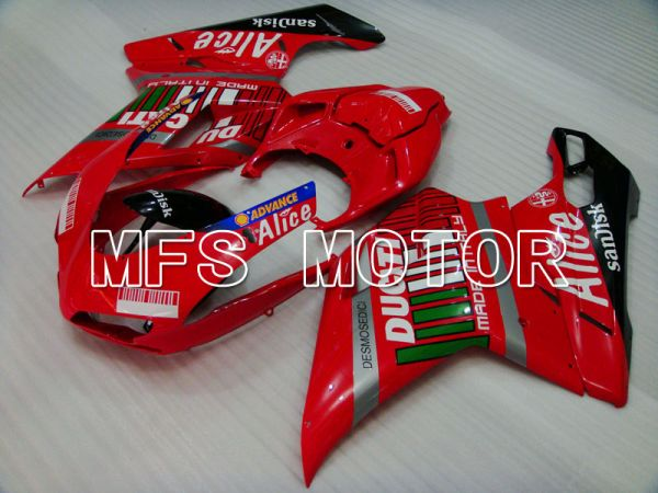 Ducati 848 / 1098 / 1198 2007-2011 Injection ABS Fairing - Alice - Red Black - MFS4113