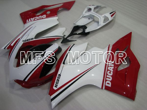 Ducati 1199 2011-2014 Injection ABS Fairing - Factory Style - Red White - MFS4117