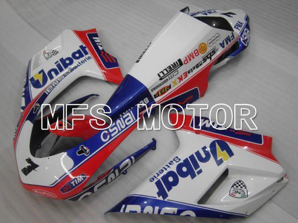 Ducati 848 / 1098 / 1198 2007-2011 Injection ABS Fairing - Unibat - Pink White - MFS4130