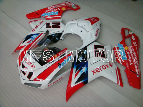 Ducati 848 / 1098 / 1198 2007-2011 Injection ABS Fairing - Xerox - Red White - MFS4146