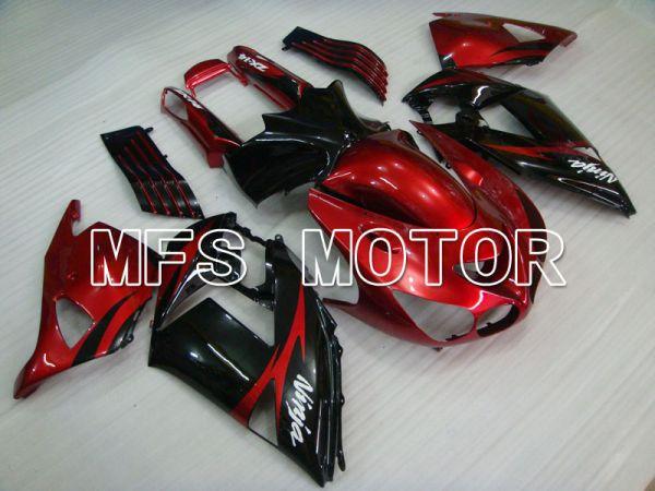 Kawasaki NINJA ZX14R 2006-2011 Injection ABS Fairing - Factory Style - Black Red wine color - MFS4161