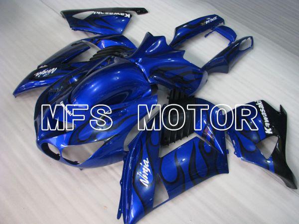 Kawasaki NINJA ZX14R 2006-2011 Injection ABS Fairing - Flame - Black Blue - MFS4164
