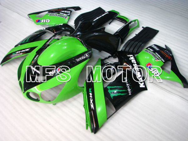 Kawasaki NINJA ZX14R 2006-2011 Injection ABS Fairing - Monster - Black Green - MFS4168