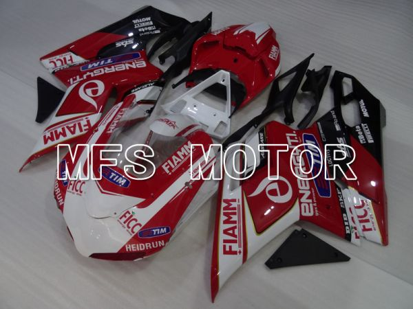 Ducati 848 / 1098 / 1198 2007-2011 Injection ABS Fairing - FIAMM - Red White - MFS4180