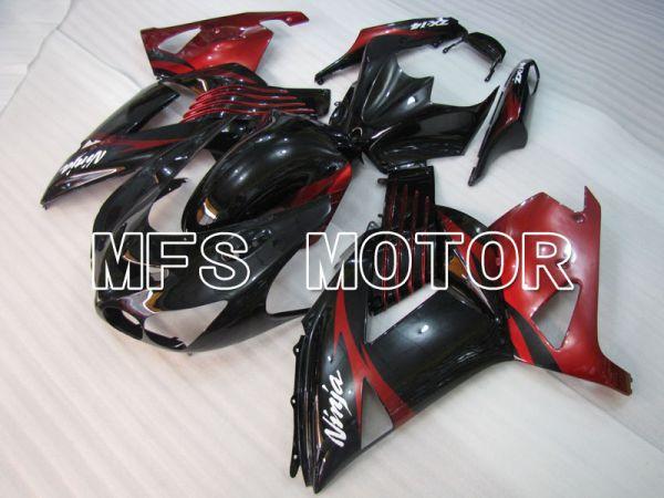 Kawasaki NINJA ZX14R 2006-2011 Injection ABS Fairing - Factory Style - Black Red wine color - MFS4181
