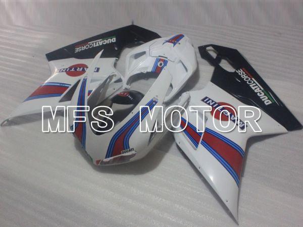 Ducati 848 / 1098 / 1198 2007-2011 Injection ABS Fairing - MARTINI - Black White - MFS4184
