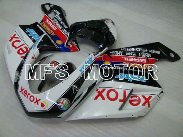 Ducati 848 / 1098 / 1198 2007-2011 Injection ABS Fairing - Xerox - Black White - MFS4187