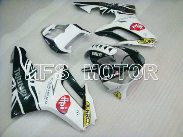 Triumph Daytona 675 2006-2008 Injection ABS Fairing - parkingo - Black White - MFS4191