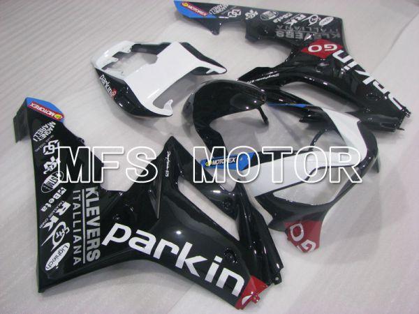 Triumph Daytona 675 2006-2008 Injection ABS Fairing - parkingo - Black White - MFS4199