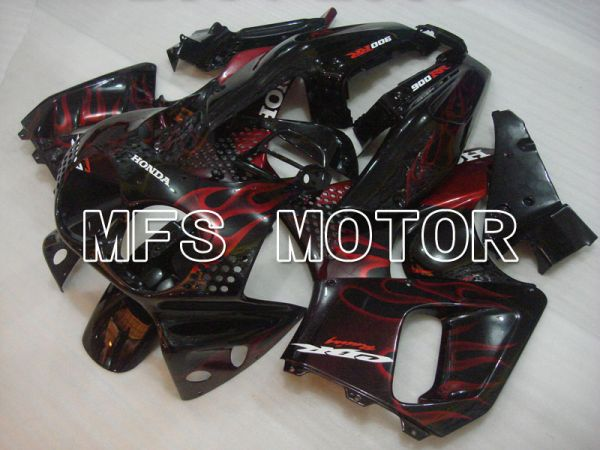 Honda CBR900RR 893 1992-1993 ABS Fairing - Flame - Black Red wine color - MFS4234