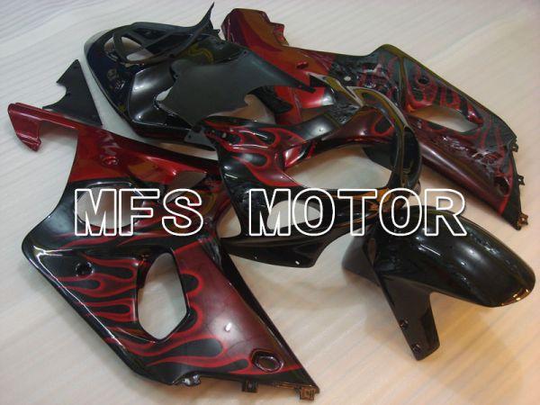 Suzuki GSXR1000 2000-2002 Injection ABS Fairing - Flame - Black Red - MFS4246