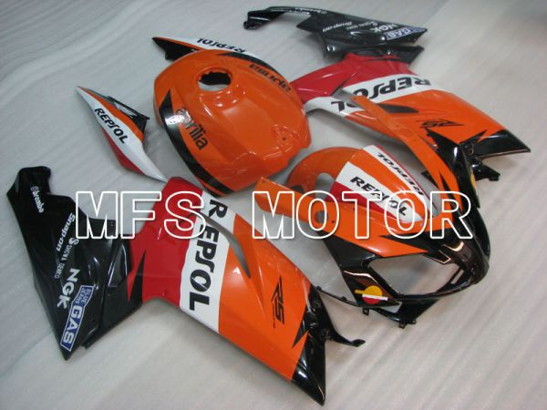 Aprilia RS125 2006-2011 Injection ABS Fairing - Repsol - Black Orange Red - MFS4255