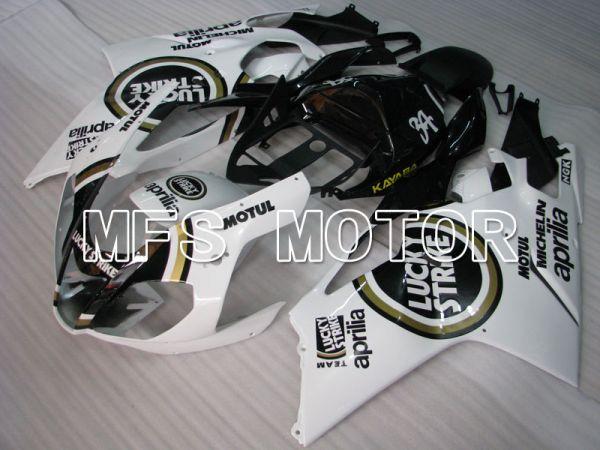 Aprilia RSV 1000 R 2004-2009 ABS Fairing - Lucky Strike - White Black - MFS4333