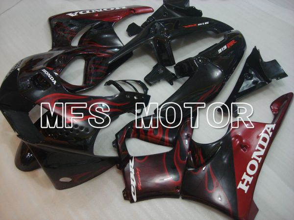 Honda CBR900RR 919 1998-1999 ABS Fairing - Flame - Red wine color Black - MFS4360