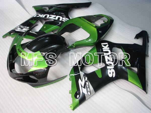 Suzuki GSXR1000 2000-2002 Injection ABS Fairing - Factory Style - Black Green - MFS4366