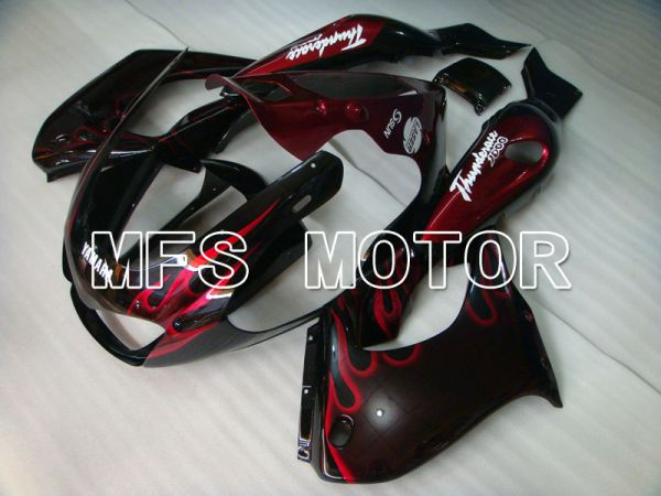 Yamaha YZF1000R 1997-2007 ABS Fairing - Flame- Black Red - MFS4381