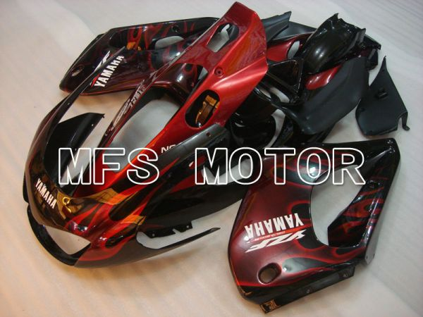 Yamaha YZF1000R 1997-2007 ABS Fairing - Flame- Black Red - MFS4397