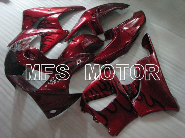 Honda CBR900RR 919 1998-1999 ABS Fairing - Flame - Red wine color Black - MFS4405
