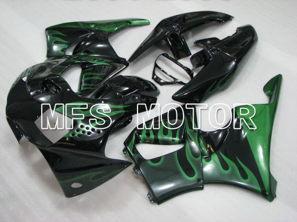 Honda CBR900RR 919 1998-1999 ABS Fairing - Flame - Green Black - MFS4408