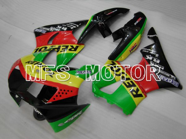 Honda CBR900RR 919 1998-1999 ABS Fairing - Repsol - Black Red Green - MFS4421