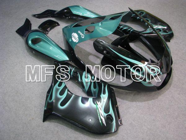 Yamaha YZF1000R 1997-2007 ABS Fairing - Flame - Black Cyan - MFS4423