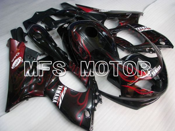 Yamaha YZF-600R 1997-2007 Injection ABS Fairing - Flame - Red wine color White - MFS4462