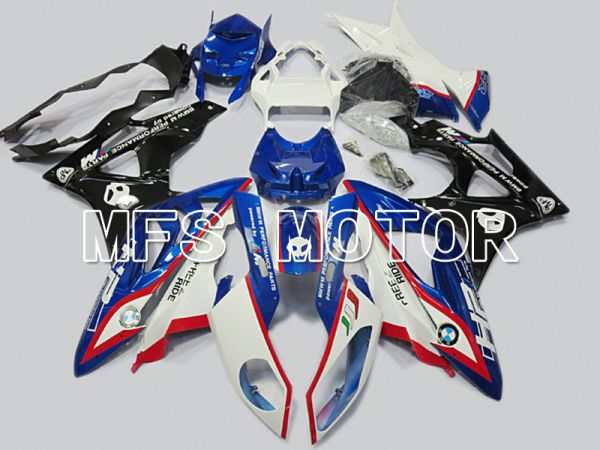 BMW S1000RR 2009-2014 Injection ABS Fairing - Factory Style - Black White Blue - MFS4482