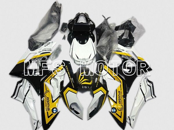 BMW S1000RR 2009-2014 Injection ABS Fairing - Factory Style - Black Yellow Blue - MFS4484