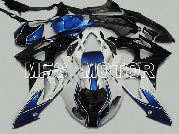 BMW S1000RR 2009-2014 Injection ABS Fairing - Factory Style - Black White Blue - MFS4488