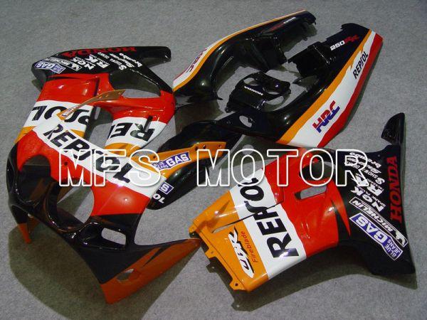 Honda CBR250RR MC19 1988-1989 Injection ABS Fairing - Repsol - Red Black Orange - MFS4497