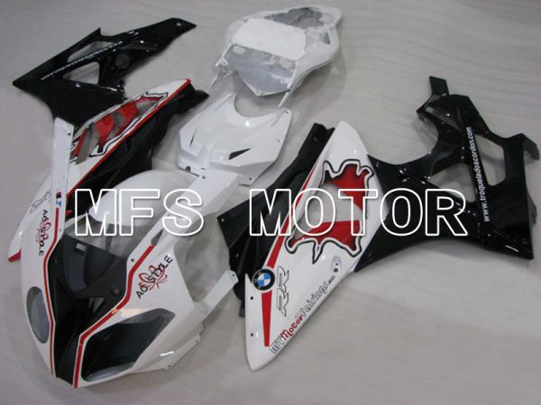 BMW S1000RR 2009-2014 Injection ABS Fairing - Factory Style - Black White Red - MFS4498