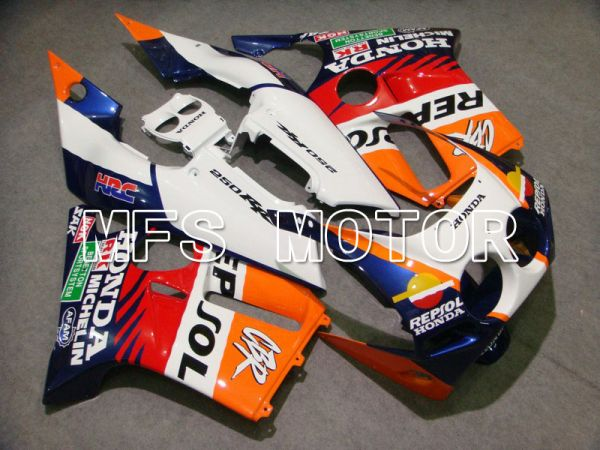 Honda CBR250RR MC19 1988-1989 Injection ABS Fairing - Repsol - White Blue Orange - MFS4501