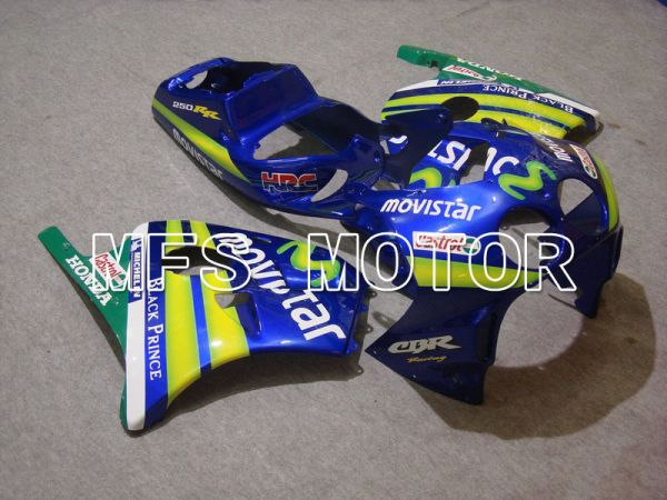 HONDA CBR 250RR MC22 1990-1998 Injection ABS Fairing - Movistar - Green Blue - MFS4552