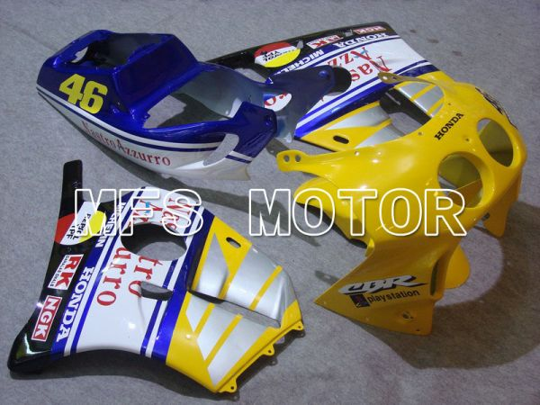 HONDA CBR 250RR MC22 1990-1998 Injection ABS Fairing - Nastro Azzurro - Yellow White Blue - MFS4555