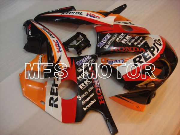 HONDA CBR 250RR MC22 1990-1998 Injection ABS Fairing - Repsol - Red Black Orange - MFS4563