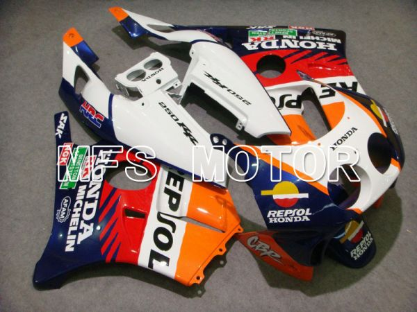 HONDA CBR 250RR MC22 1990-1998 Injection ABS Fairing - Repsol - Orange Blue White - MFS4564