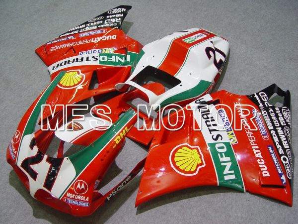 Ducati 748 / 998 / 996 1994-2002 Injection ABS Fairing - INFO STRADA - Red - MFS4566