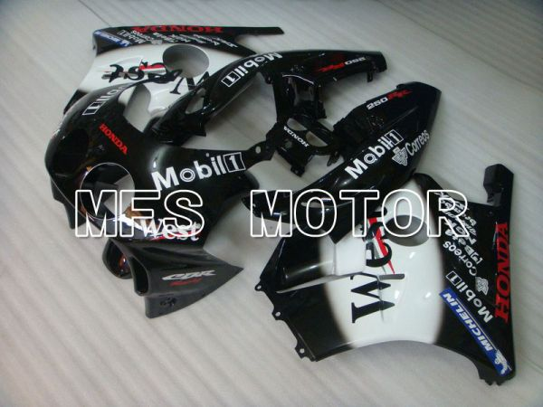 HONDA CBR 250RR MC22 1990-1998 Injection ABS Fairing - West - Black White - MFS4571