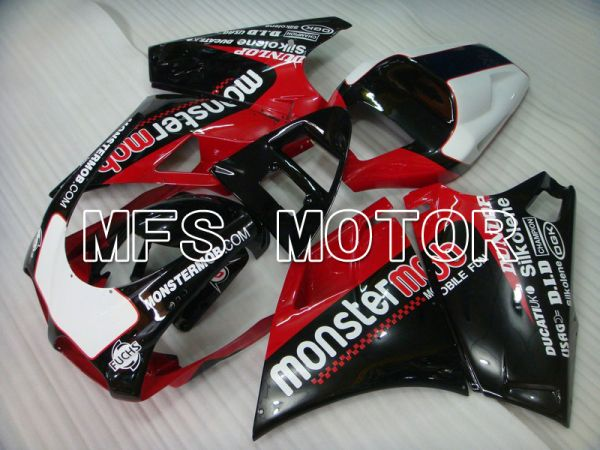 Ducati 748 / 998 / 996 1994-2002 Injection ABS Fairing - Monstermob - Black Red wine color - MFS4572