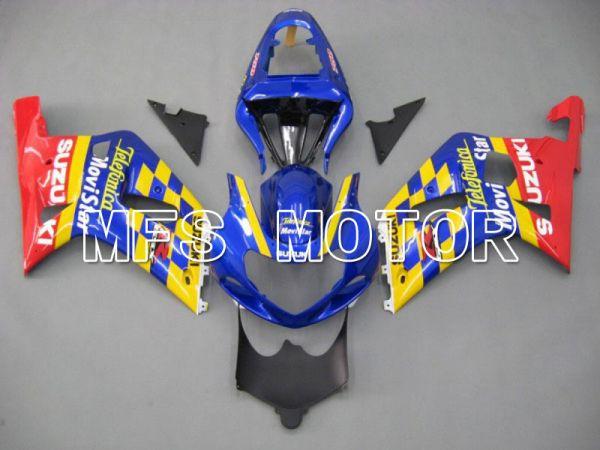 Suzuki GSXR600 2001-2003 Injection ABS Fairing - Movistar - Red Blue Yellow - MFS4573