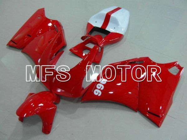 Ducati 748 / 998 / 996 1994-2002 Injection ABS Fairing - Factory Style - Red White - MFS4574