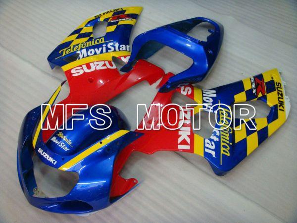 Suzuki GSXR600 2001-2003 Injection ABS Fairing - Movistar - Red Blue Yellow - MFS4575