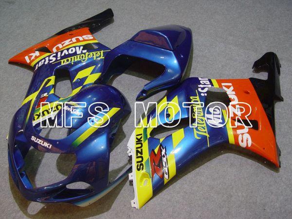 Suzuki GSXR750 2000-2003 Injection ABS Fairing - Movistar - Orange Blue Yellow - MFS7033