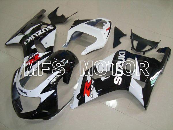 Suzuki GSXR600 2001-2003 Injection ABS Fairing - Factory Style - Black White - MFS4591