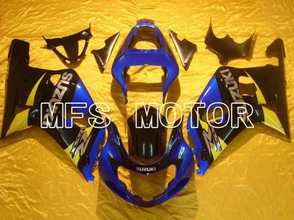 Suzuki GSXR600 2001-2003 Injection ABS Fairing - Factory Style - Black Blue - MFS4592